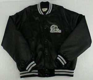 Vintage ChalkLine NFL Los Angeles Raiders Button Up Satin Jacket Size Mens L