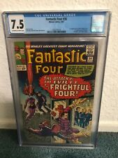 Fantastic Four #1 CGC 7.5 OW to W pages 1st Full App of Medusa & Frightful Four