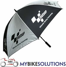 Nouveau Moto Deluxe MotoGP Piste Paddock Umbrella Black & Silver BIKE IT