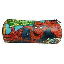 rétro marvel BD Spider-Man trousse de crayon école bureau TOUT NOUVEAU