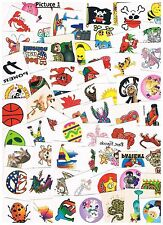 50 x Assorted Kids Temporary Tattoos -  Bulk Party Favours ,stocking fillers,etc