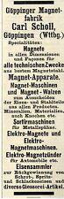 Carl Scholl Göppingen MAGNET-FABRIK Historische Reklame 1908