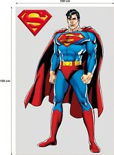 SUPERMAN WALL DECAL MURAL DECOR STICKERS XXL 1,5m