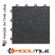 Gym Flooring Rubber Top Tiles for Home Gym - Made In The USA