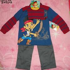@**DISNEY'S JAKE & THE NEVERLAND PIRATES 3PC TOP, PANTS & BEANIE HAT**SIZE 2T