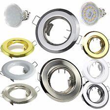 LED Einbaustrahler GU10 MR16 GU5,3 Leuchte Einbauleuchte Chrom Gold Weiß Matt