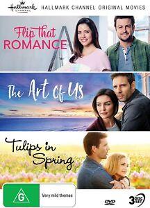 HALLMARK 3 Film Collection 8 (Region 4) DVD Flip That Romance Art Tulip Spring