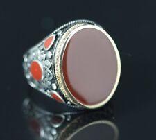 Turkish Handmade Ottoman 925K Sterling Silver Agate Men's Ring 11 12 Mr Gjmpsu24