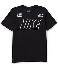 """NIKE Men's Dri-FIT Cotton """"365 / 247"""" T-Shirt ** BLACK/WHITE - XL ** NWT"""
