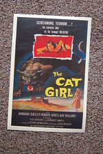 The Cat Girl Lobby Card Movie Poster Barbara Shelley