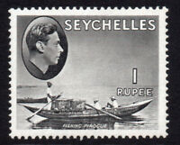 Seychelles 1 Rupee Stamp c1938-49 Mounted Mint Hinged (8414)
