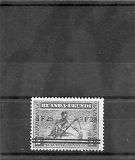 RUANDA-URUNDI Sc 59(MI 68)**F-VF NH 1941 3F25/2F DARK BLUE, SURCHARGE, $125