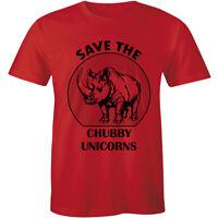 Save The Chubby Unicorns T Shirt Funny Rhino With A Play On Unicorn Parody Shirt