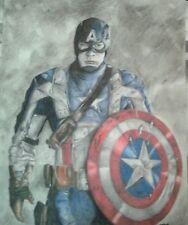 Captain America color pencil drawing/avengers/Chris Evans/civil war/original