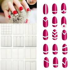 15Pcs/set Nail Art Guide Tips Hollow Stencils Sticker French Manicure Decals