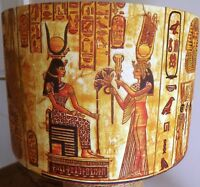 Egyptian Lampshade, Shabby Chic ,Egypt,Pyramids, vintage gold yellow FREE GIFT