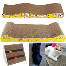 Pets Cat Kitten Corrugated Scratch Board Pad Bone Scratcher Bed Mat Claws Care