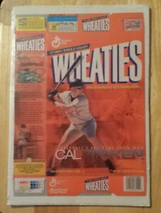 2002 ripken jr all time iron man wheaties cereal box