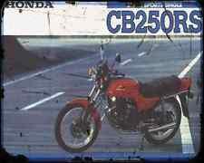 Honda Cb250Rs 80 A4 Metal Sign Motorbike Vintage Aged