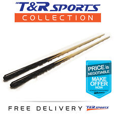"""2 x 36"""" 1 Piece Wood Cues for Pool Billiards Snooker Kids Cue Free Delivery AU"""