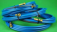 MIG Liner BLUE Steel 0.6/0.8mm x 5mtr Binzel Style Insulated Bobthewelder 5Pcs