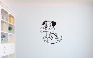 101 Dalmatians Puppy dog Children's wall art sticker playroom nursery toy room