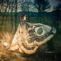 Frauen Vintage Lange Schmetterling Flügel Cape Damen Schal Schals Wrap Scha P6X1