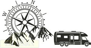Compass Camper Van No.1 hood vinyl decal black gloss 540mm x 1032mm