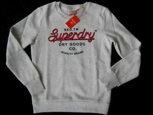SUPERDRY Crafted Worwear Sweat Pullover DAMEN Gr.40*NEU*E5