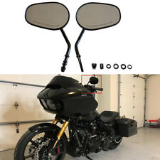 Tapered Black Motorcycle Side Mirrors For Harley Touring Road Glide 1998-2013 US