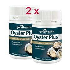 2 x  Good Health  Oyster Plus Added Zinc for male vitality