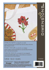 Dimensions Stamped cross stitch  - Amaryllis cotton apron kit