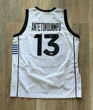 Giannis Antetokounmpo autographed signed RARE greek jersey PSA COA