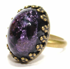 Modeschmuck-Ringe aus gemischten Metallen Glassteine