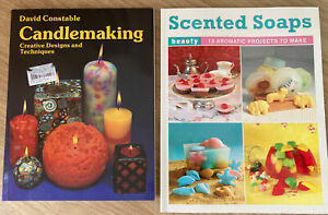 candle making book + scented soaps book