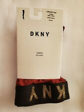 DKNY Women's Lurex Ribbed Control-Top Tights Crimson/Gold Small