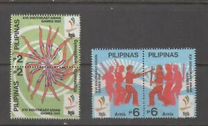 Philippine Stamps 1991 Southeast Asian Games set  MNH