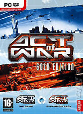 Come NUOVO!!! * Act of War-Gold Edition * PC DVD-ROM * VERSIONE FRANCESE!!!