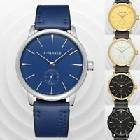 T-WINNER Luxury Men's Shock Steel Watch Semi-automatic Mechanical Quartz Watches