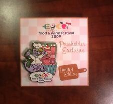 Epcot International Food & Wine Festival 2009 Annual Passholder Figment Pin73227