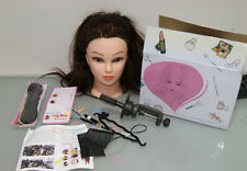 Mannequin Head Synthetic Hair Hairdressing Cosmetology Ausbildung (N810-R20)