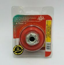 """JAZ 73010 3"""" Cable Crimped Cup Brush 5/8""""-11 M14-2 Thread 13000RPM Max Grinding"""