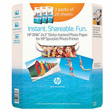 HP Sprocket Photo Paper, 60-pack 2x3 Inch.