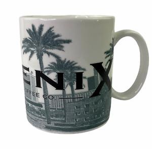 Starbucks 2002 Skyline Series Phoenix Arizona 16 oz Coffee Cup Mug Gray White
