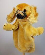 Steiff Handpuppe  Hund Peky Pekinese ca. 20 cm Mohair alt Silberknopf