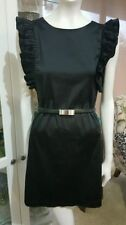 Cotton Blend Machine Washable Little Black Dresses