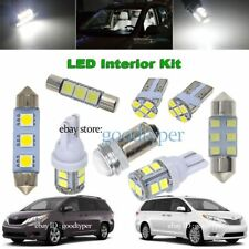 11x White LED Map Dome light interior package kit fit 2011-2014 Toyota Sienna