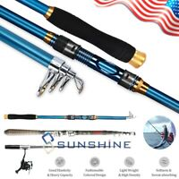 US Telescopic Fishing Rod Portable Spinning High Carbon Fiber Fishing Rod Pole