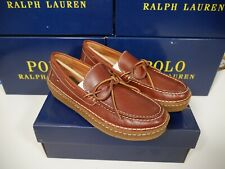 Ralph Lauren Polo Country Myles Slip On Moccasin Leather Loafer Mens 10.5D NIB