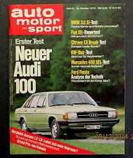 AMS 21/76 Test Audi 100,BMW 3L Si,Citroen CX Break,Test VW-Bus,Van Veen OCR 1000